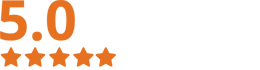 Five Star Rating on Google and Facebook